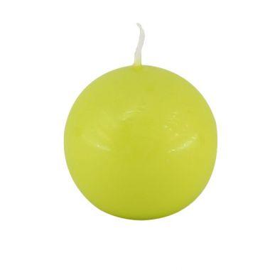 Bougie Boule Vert Anis 6 cm