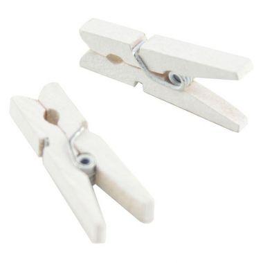 Mini pince à linge Blanche (x20)