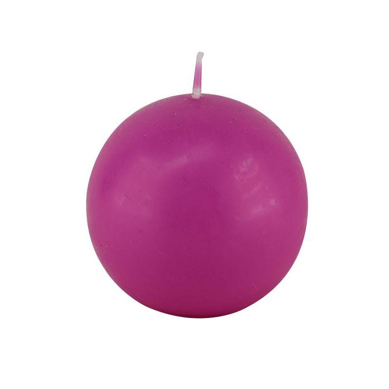 Bougie Boule Fuschia 8 cm