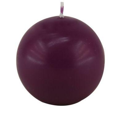 Bougie Boule Prune 8 cm