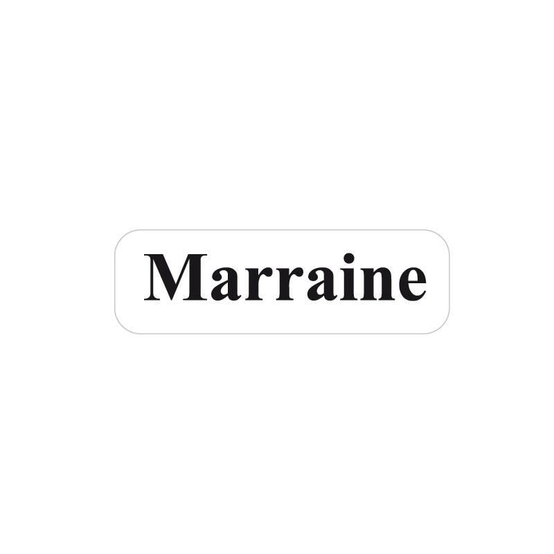 Etiquette adhésive Marraine