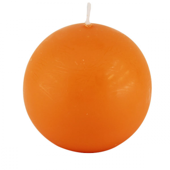 Bougie Boule Orange 8 cm