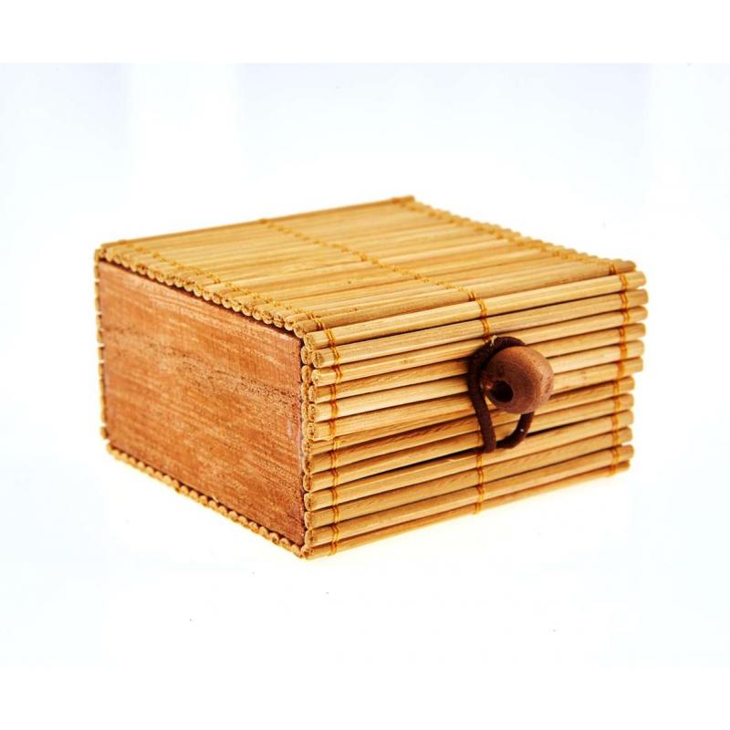 6 Boîtes à dragées Naturelle en Bambou