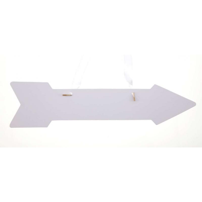 Pancarte flèche blanche