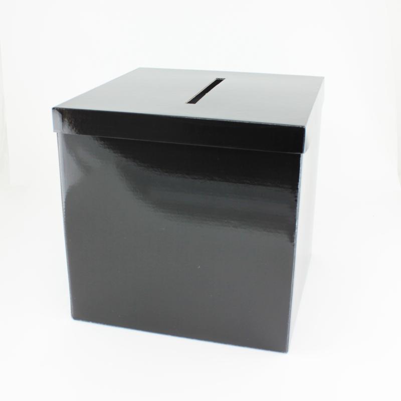 Urne carrée Noir laquée