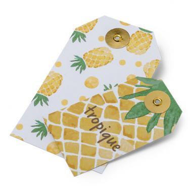 10 Etiquettes Ananas & Tropique