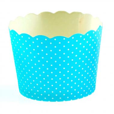 25 Petits pots plumetis Bleu