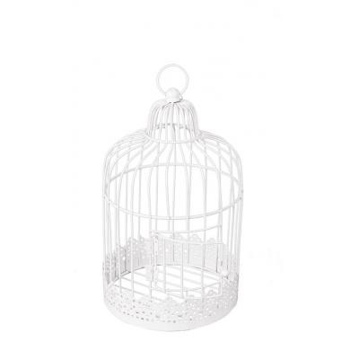 Cage à oiseaux Blanche mariage