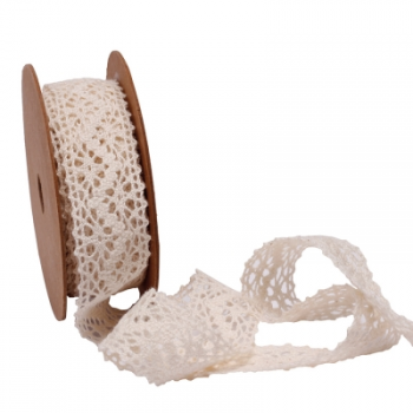 Ruban Crochet Blanc 14 mm