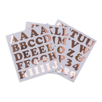 Stickers Chiffres & Lettres Rose Gold