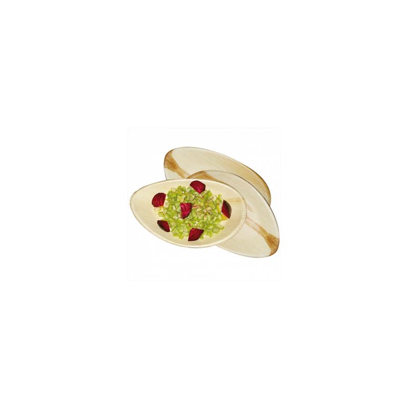 25 Assiettes Ovales Palmier Compostables
