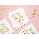 20 serviettes Rayures Blanches & Noires