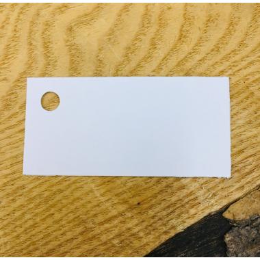 Etiquette Blanche rectangle