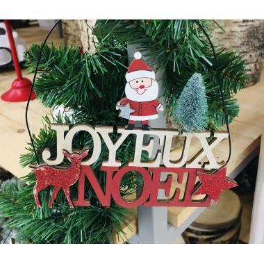Pancarte Noël Sapin à suspendre