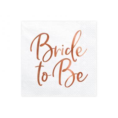 20 Serviettes Bride to Be