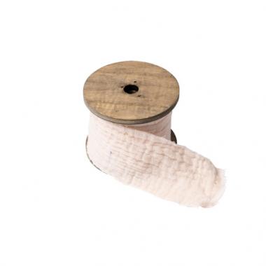 Ruban Gaze de Coton Crème